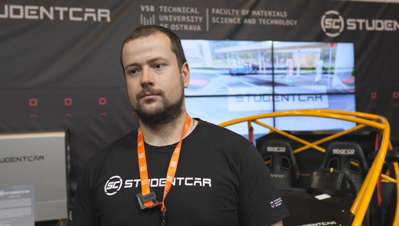 Petr Mičola, student laborant Vysoká škola Báňská Ostrava