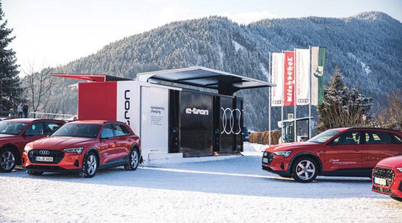 Audi zařídila na Světovém ekonomickém fóru přepravu s ekologickou flotilou